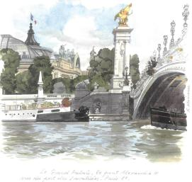 мост Александра III. Прогулка в Париже на кораблике